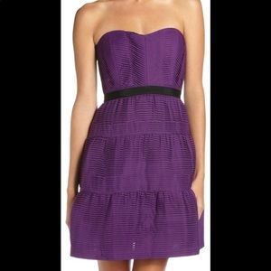 BCBG Max Azaria Grape Tiered Sleeveless Dress